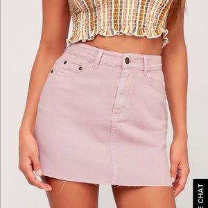 Lavender jean skirt, Size large